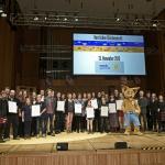 Die Preisträger von musikgewinnt! und die Siegelträger des 7. AUDITORIX-Hörbuchsiegels (© WDR / Michael Fehlauer)