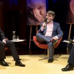 Prof. Karl Karst (links) und Dr. Wolfgang Antritter (rechts) im Gespräch mit Jörg Lengersdorf | Foto: WDR / Michael Fehlauer