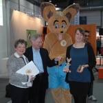 v.l.n.r. Sylvia Schmeck Dr. Wolfgang Schill AUDITORIX Britta Lang, AUDIO Verlag
