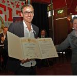 "AUDITORIX Hörbuchsiegel 2010 an die""Patmos Verlagsgruppe"" – Dirk Kauffels mit Sylvia Schmeck"